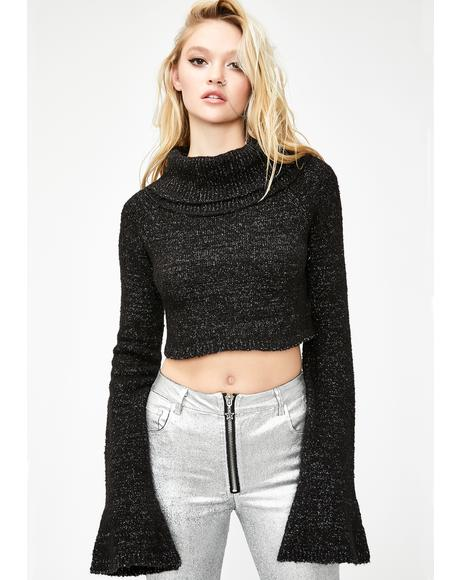 Electric Charge Cropped Sweater