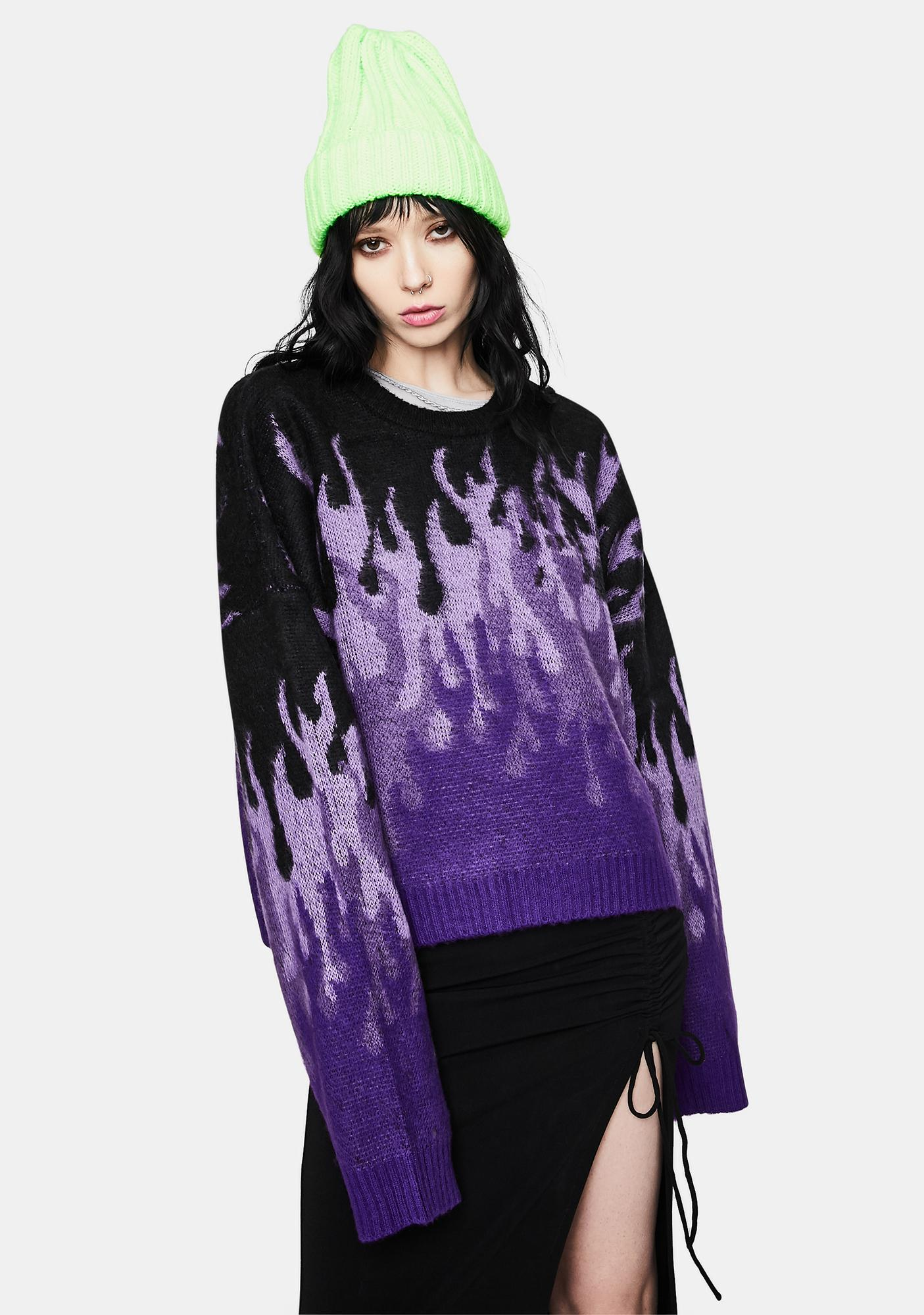 The Ragged Priest Revoly Flame Knit Sweater