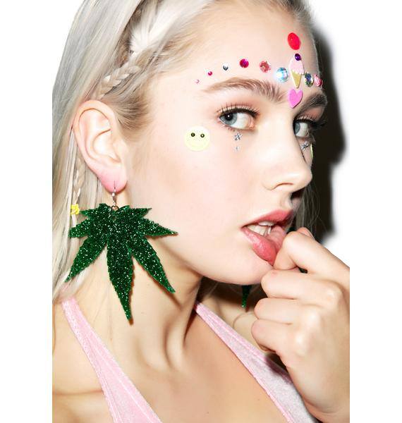 Marina Fini Weed Earrings