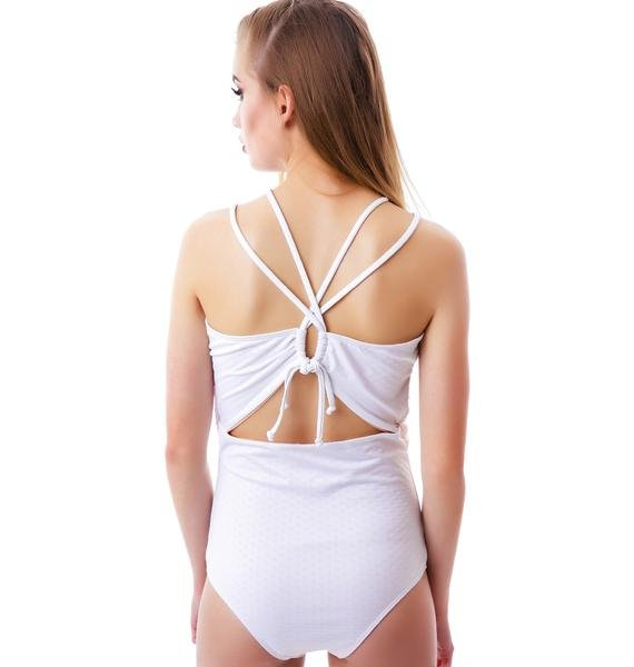 Lolli Swim Flor Drapped Criss Cross One Piece