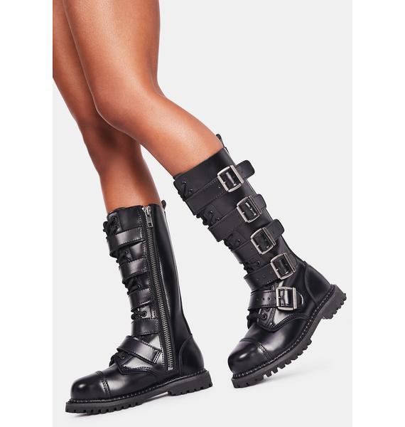 Demonia Riot Buckle Boots