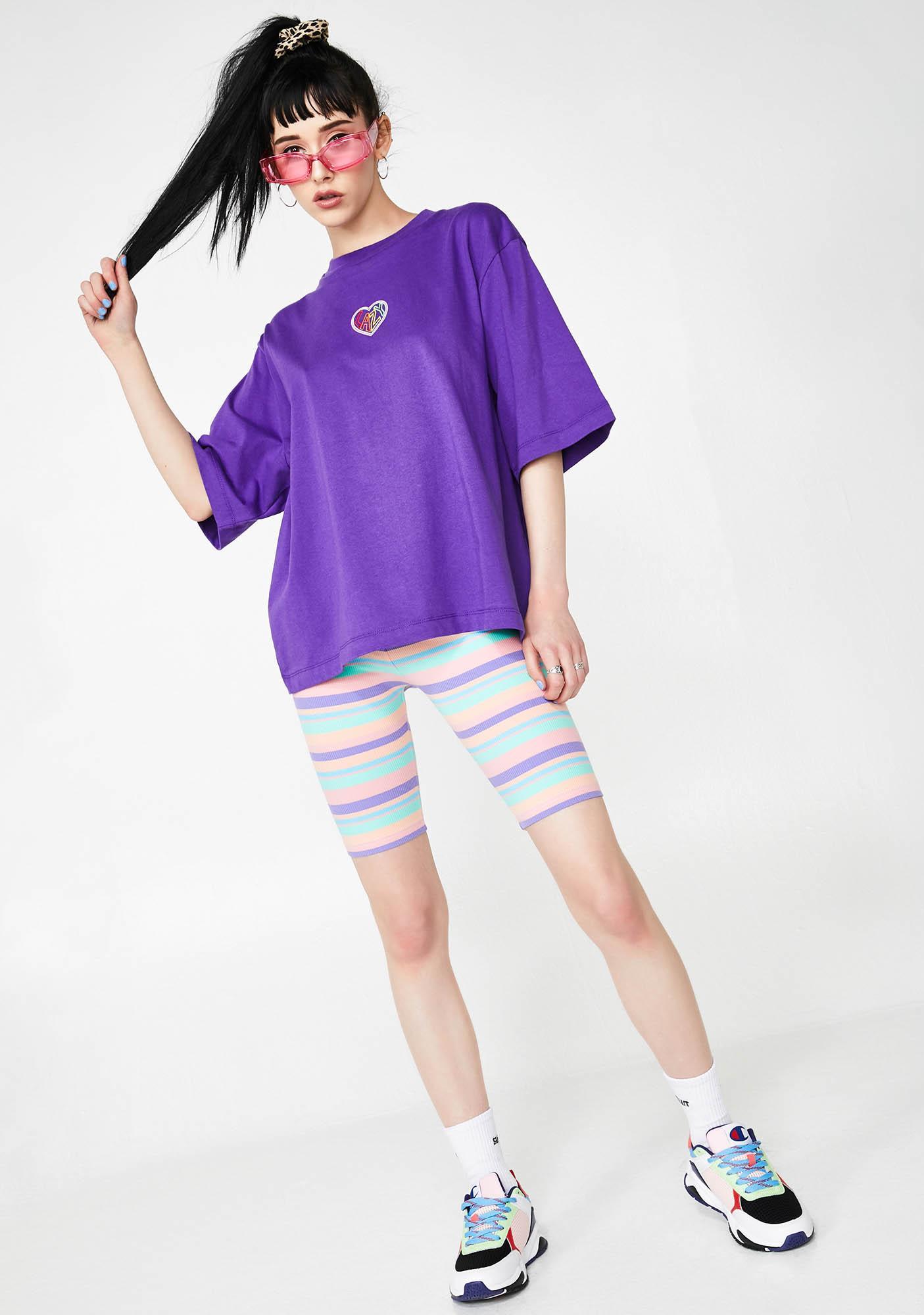 Lazy Oaf Rainbow Love T-Shirt
