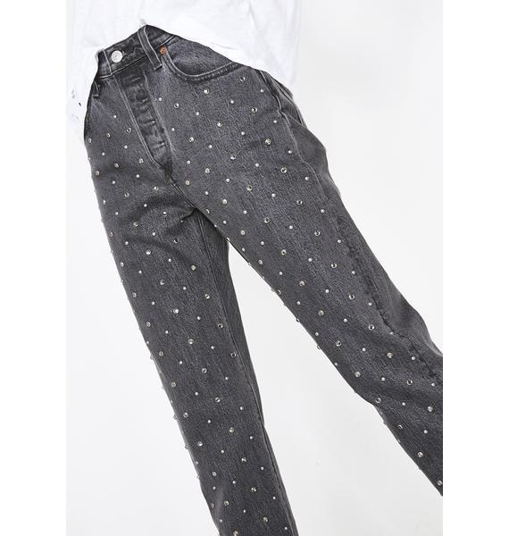 Levis 501 Crystal Crop Jeans