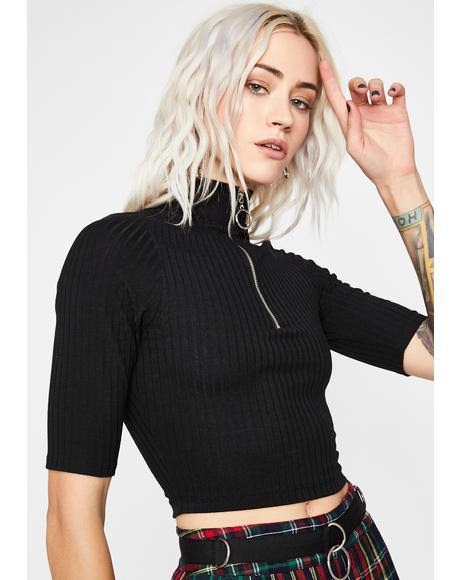 Tense Thoughts Crop Top