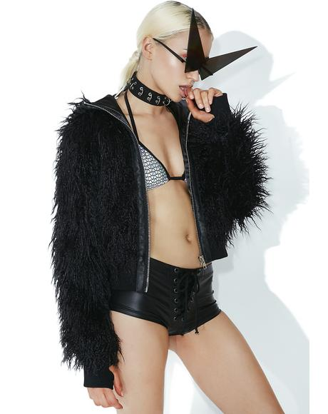 Dark Wad Faux Fur Jacket