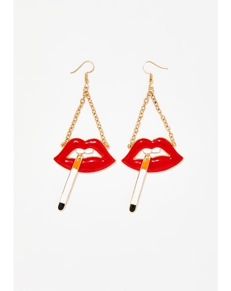 Turn Me To Ashes Earrings