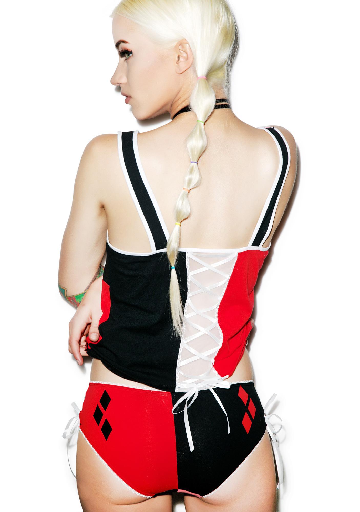 Undergirl Harley Quinn Lace Back Set
