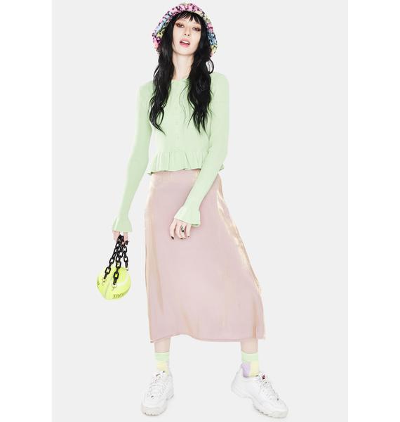 Daisy Street Bias Midi Skirt