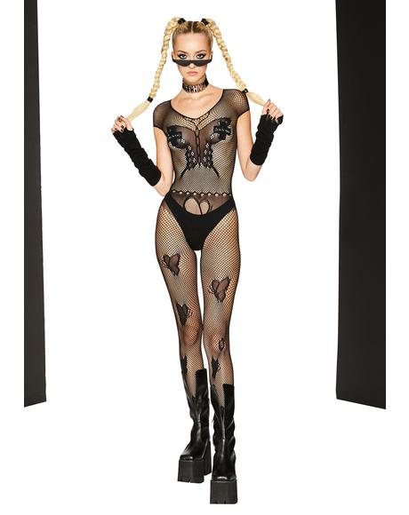 Fly Above Fishnet Bodystocking
