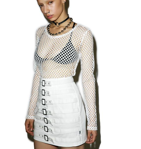 Tripp NYC Divine Buckle Up Skirt