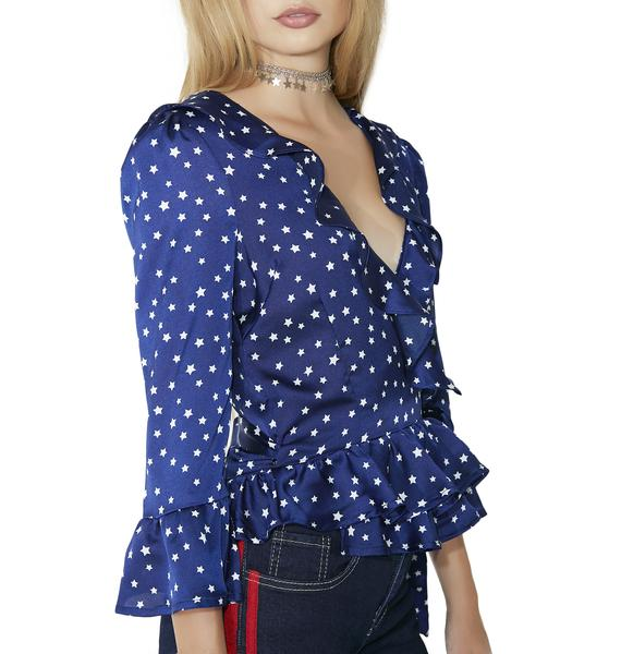Orion Wrap Blouse