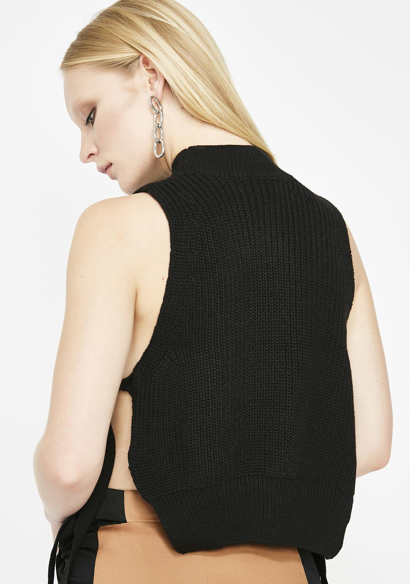 Side Chick Knit Tank Top