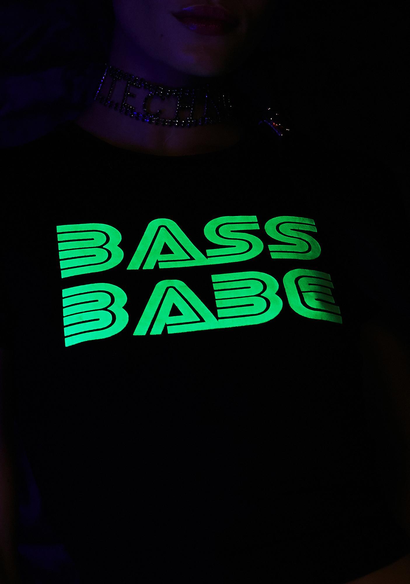 Club Exx Bass Baby Glow Tee
