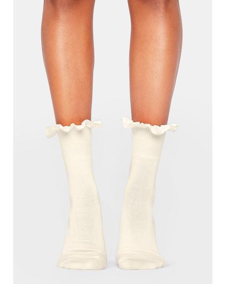 All My Loving Ruffle Socks