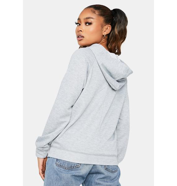 A Thousand Miles Lace Up Pullover Hoodie