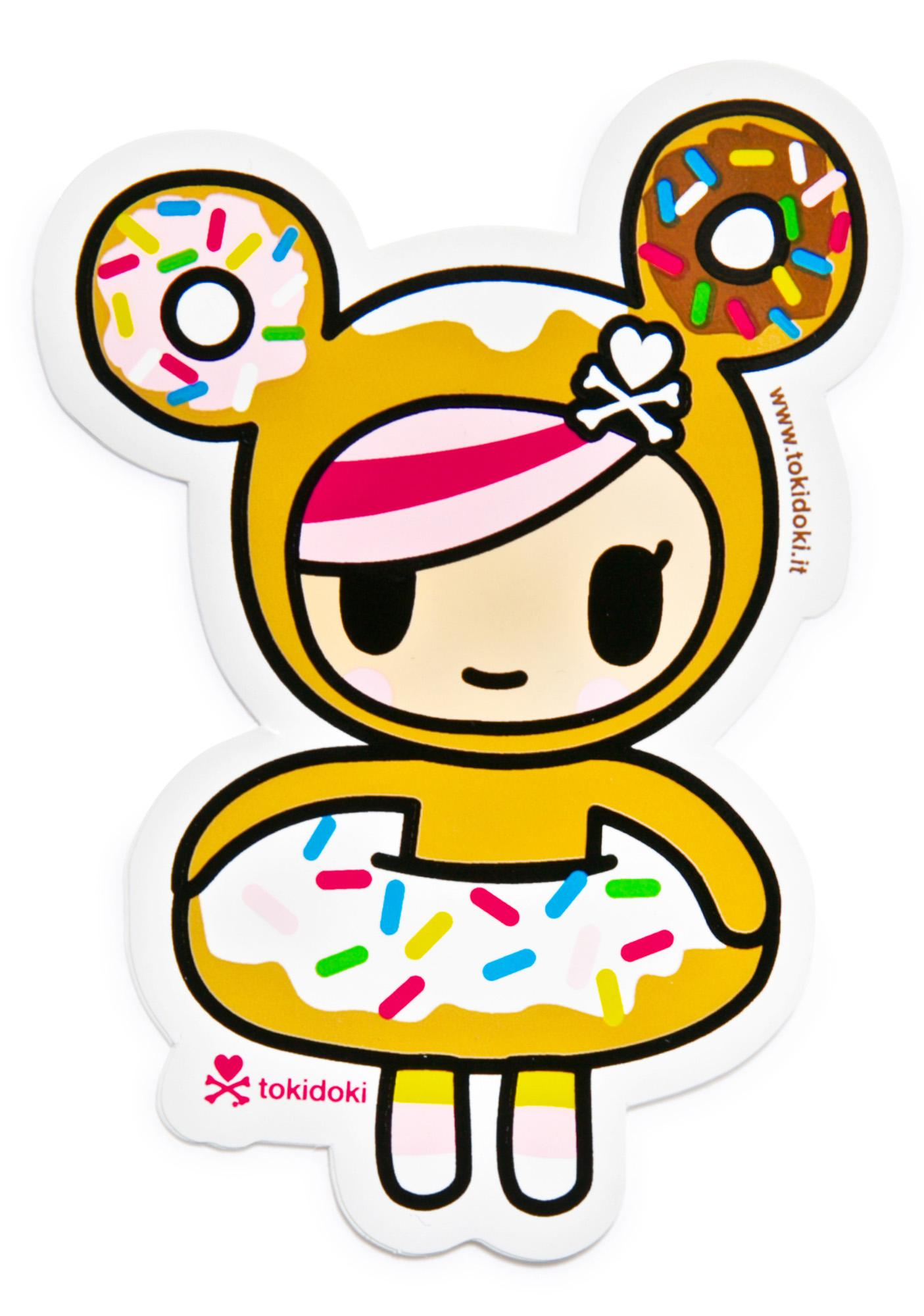 color tokidoki donutella sticker - Tokidoki Donutella Coloring Pages