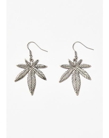 Got Me Lit Leaf Earrings