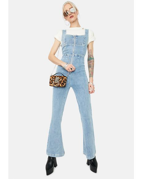 Tweet N Delete Denim Jumpsuit