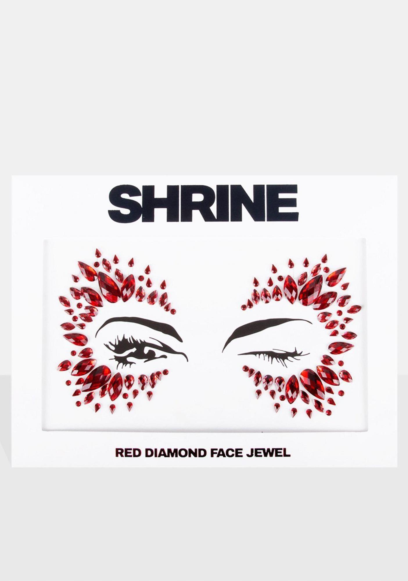 SHRINE Red Diamond Face Jewel