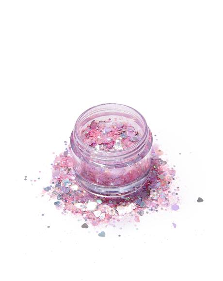 Pink Flamingo Glitter Pot