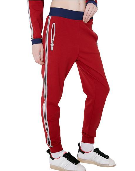 Crimson High Waist Jogger