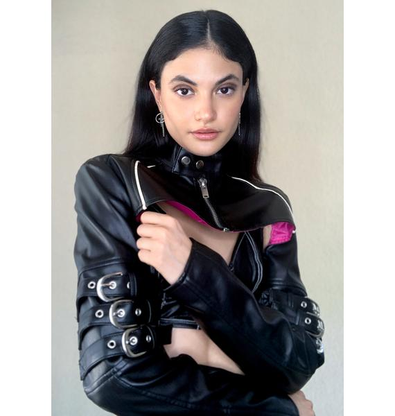 Poster Grl Call The Shots Moto Jacket
