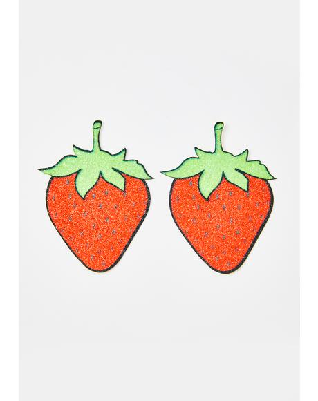 Strawberry Glitter Pasties