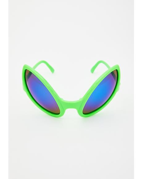 Slime Beam Me Up Alien Sunglasses