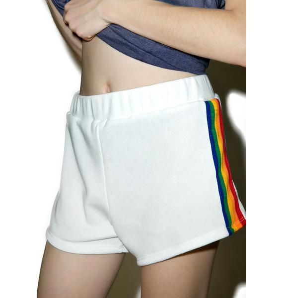 Camp Collection Rainbow Track Star Shorts