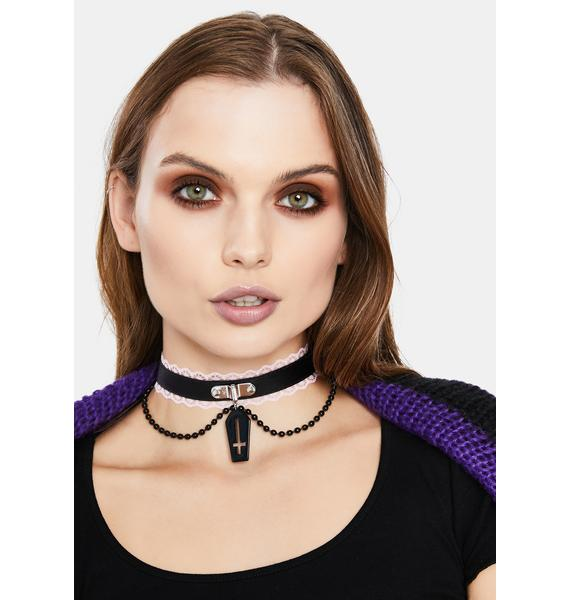 Rest In Peace Lace Choker