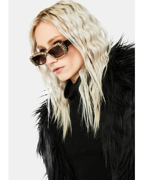 Fast Check Out Studded Sunglasses