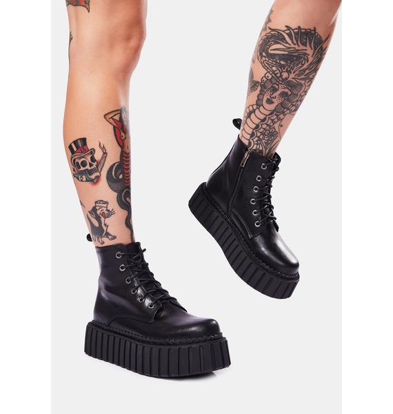 Lamoda Infinite Nights Lace Up Boots