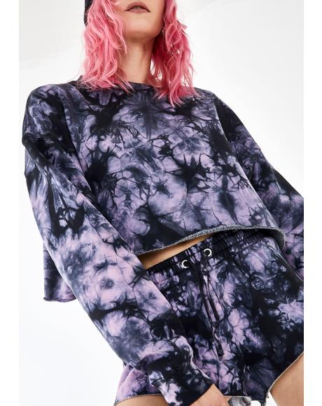 Dark Dreams Tie Dye Sweatshirt