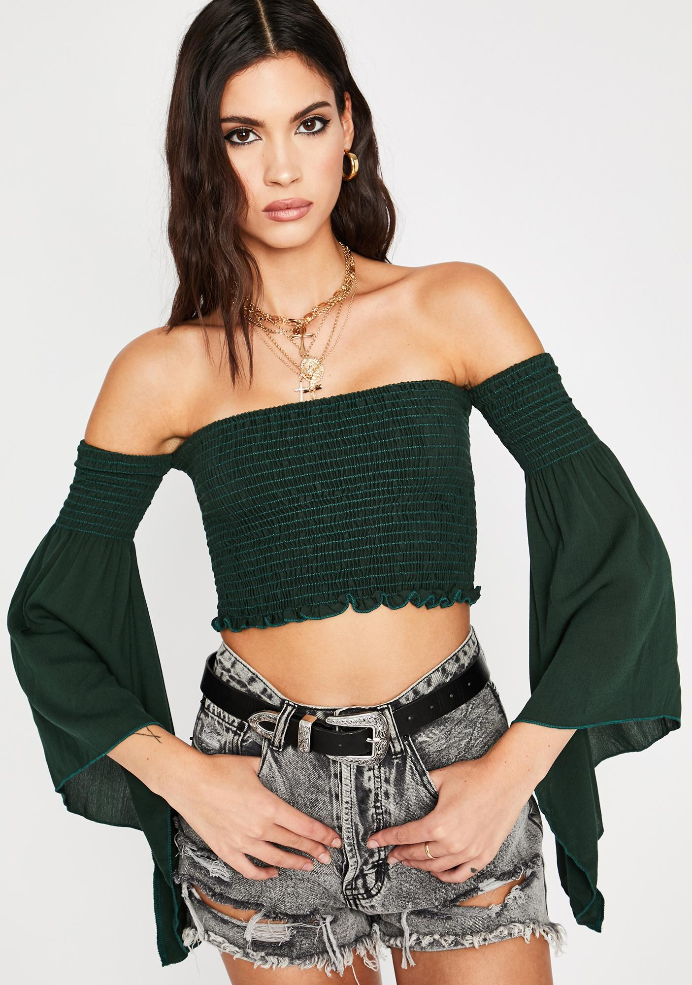 Forest Life Is But A Dream Crop Top