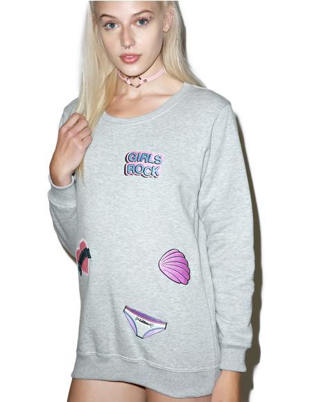 Girl Power Patches Sweatshirt