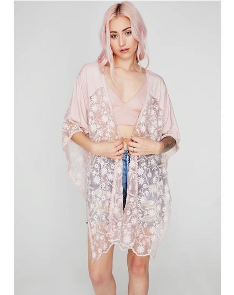 Dandelion Dream Lace Poncho