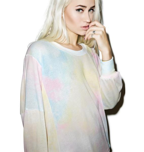 Wildfox Couture Dream Tie-Dye Nevada Jumper