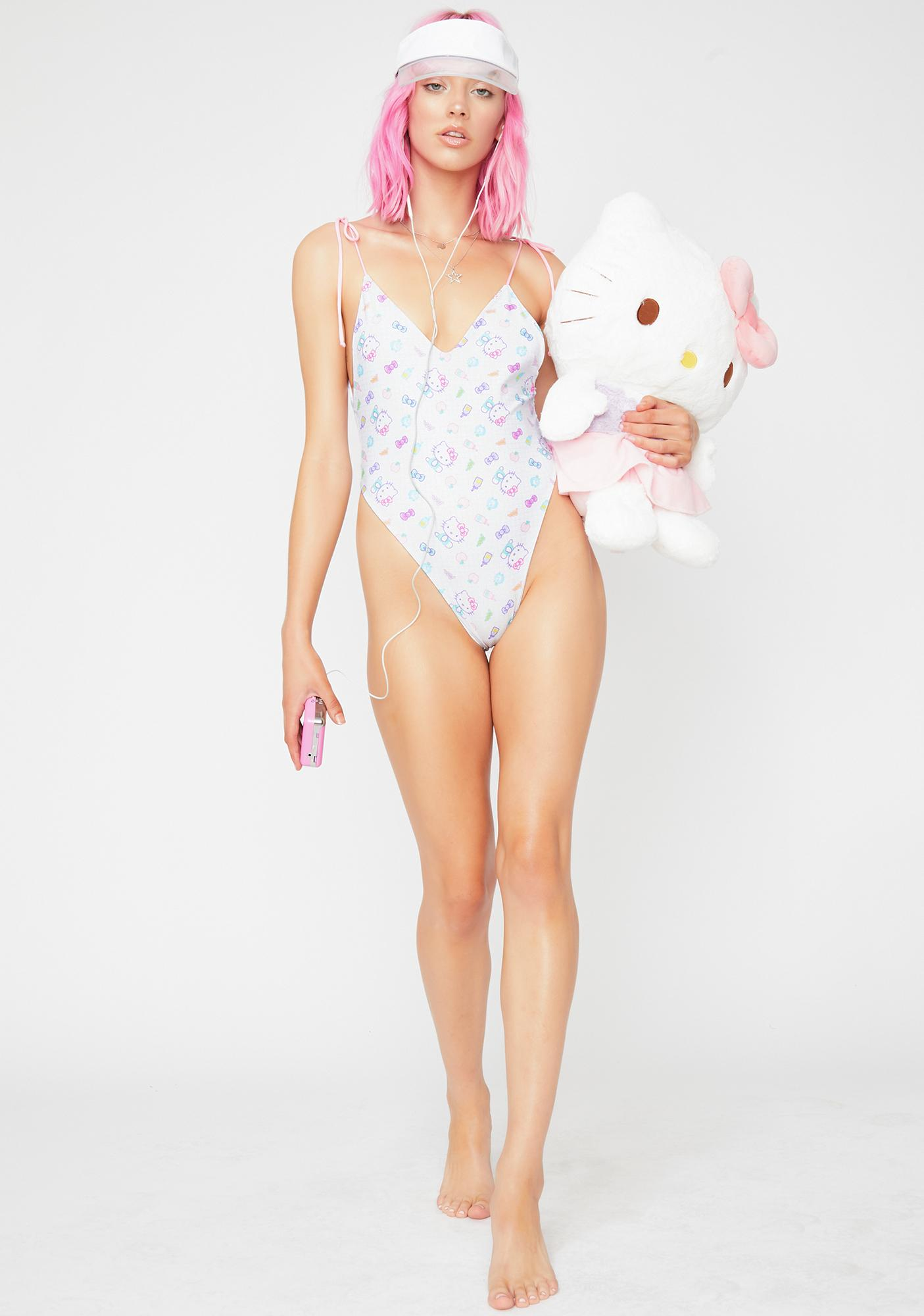 Lolli Swim x Hello Kitty Pink Promise One Piece Swimsuit