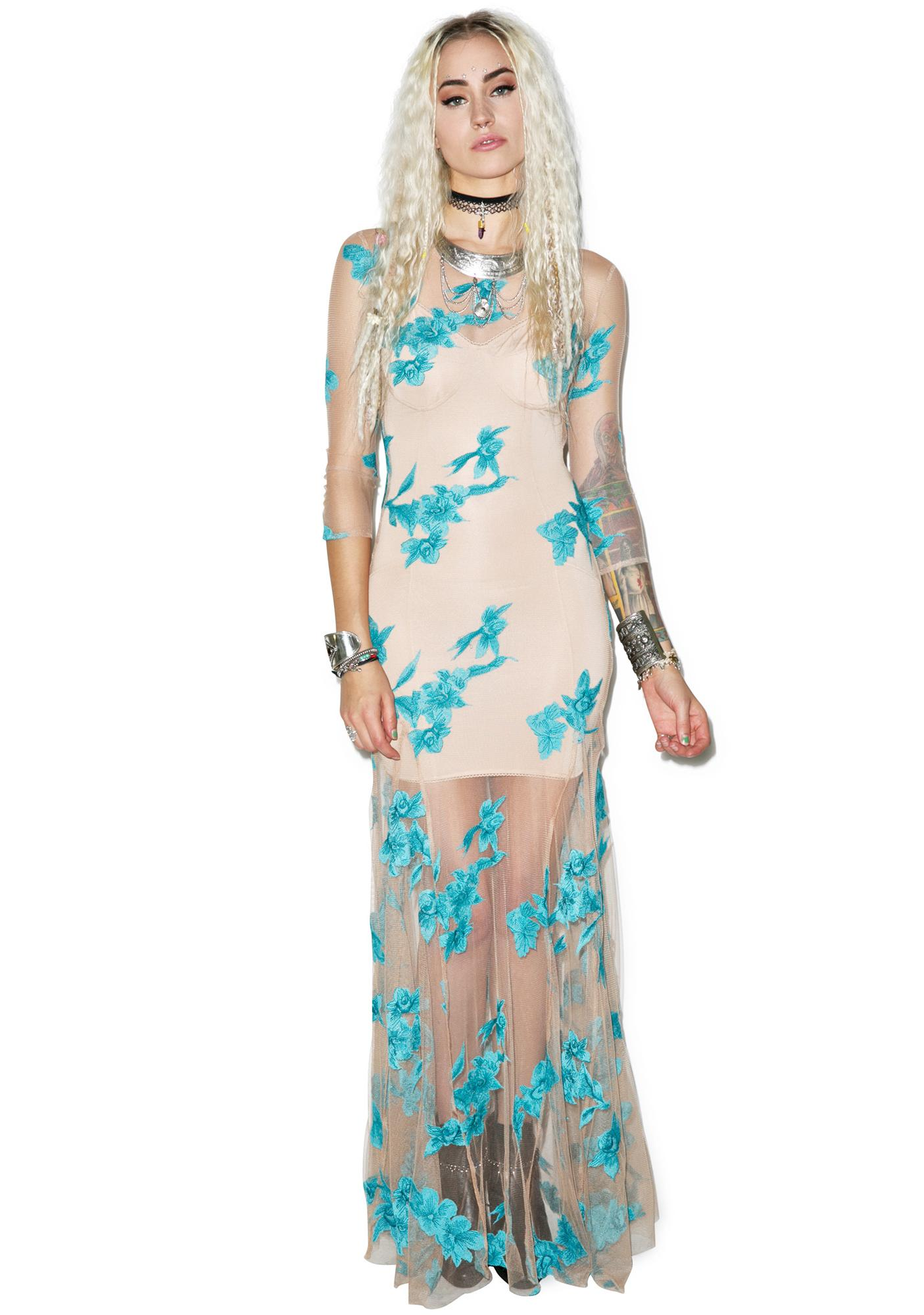 For Love & Lemons Orchid Maxi Dress
