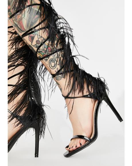 Black Frolic Wrap Heels