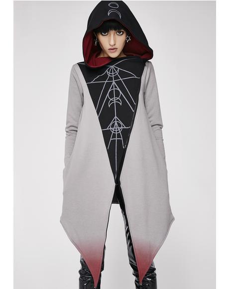 Moon Ritual Oversized Hood Cardigan