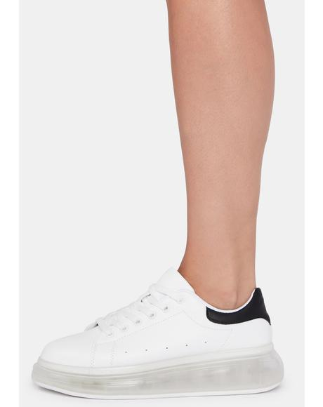 Clean Sweep Lace Up Sneakers