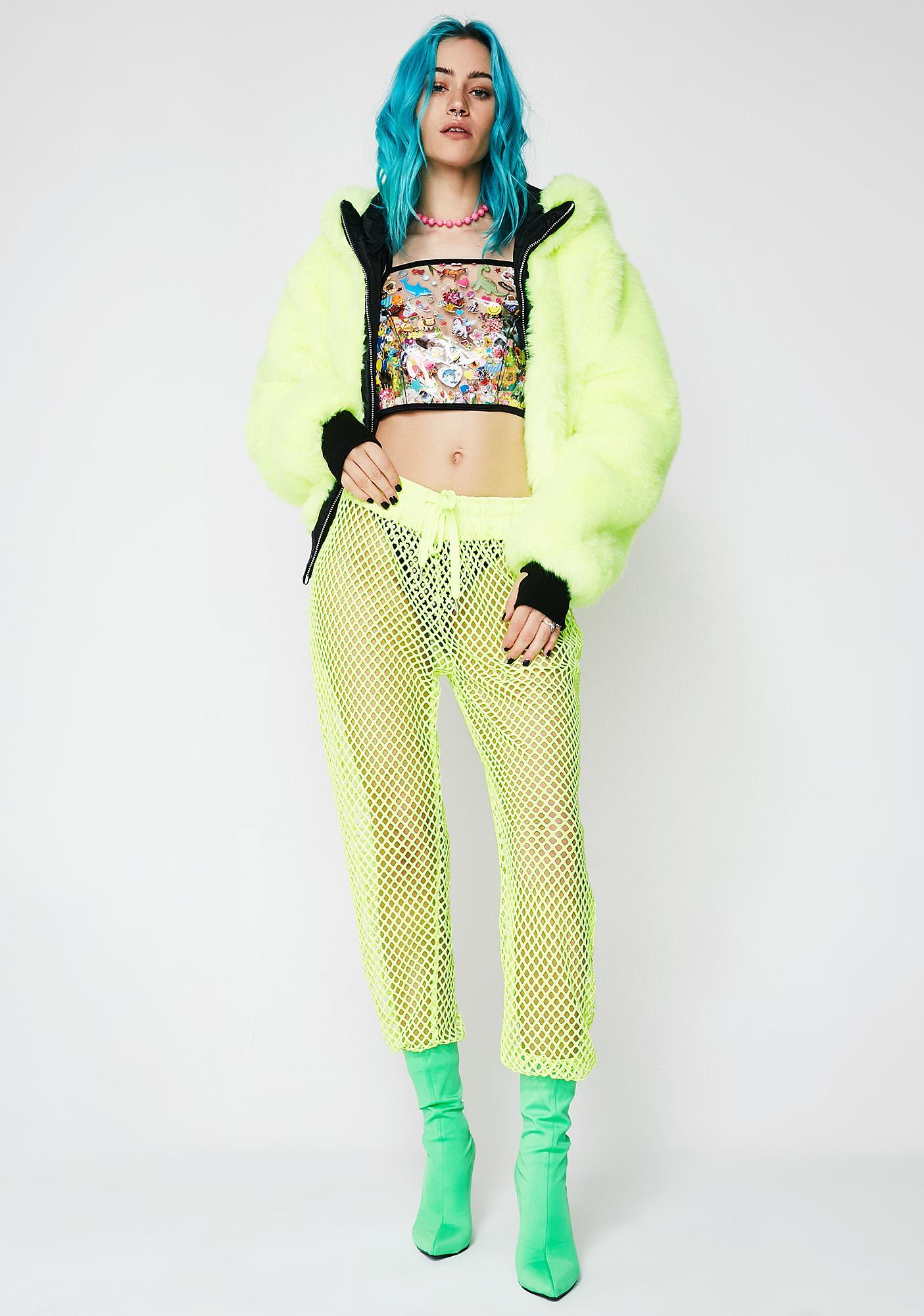 Indyanna Christina PVC Crop Lace-Up Top