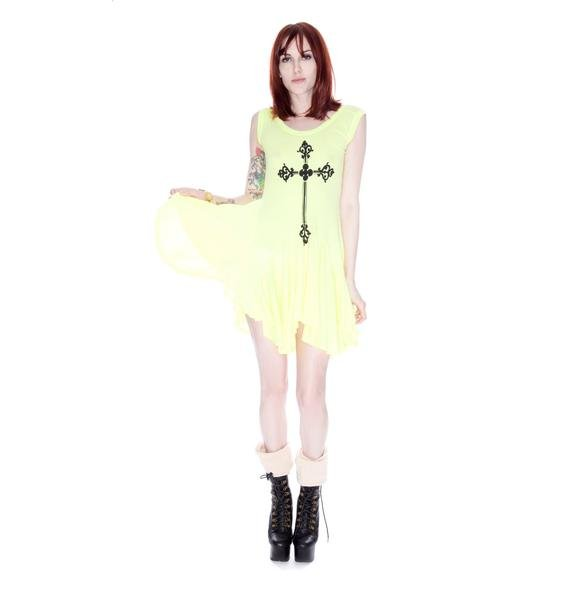 Wildfox Couture Gothic Cross Poolside Dress