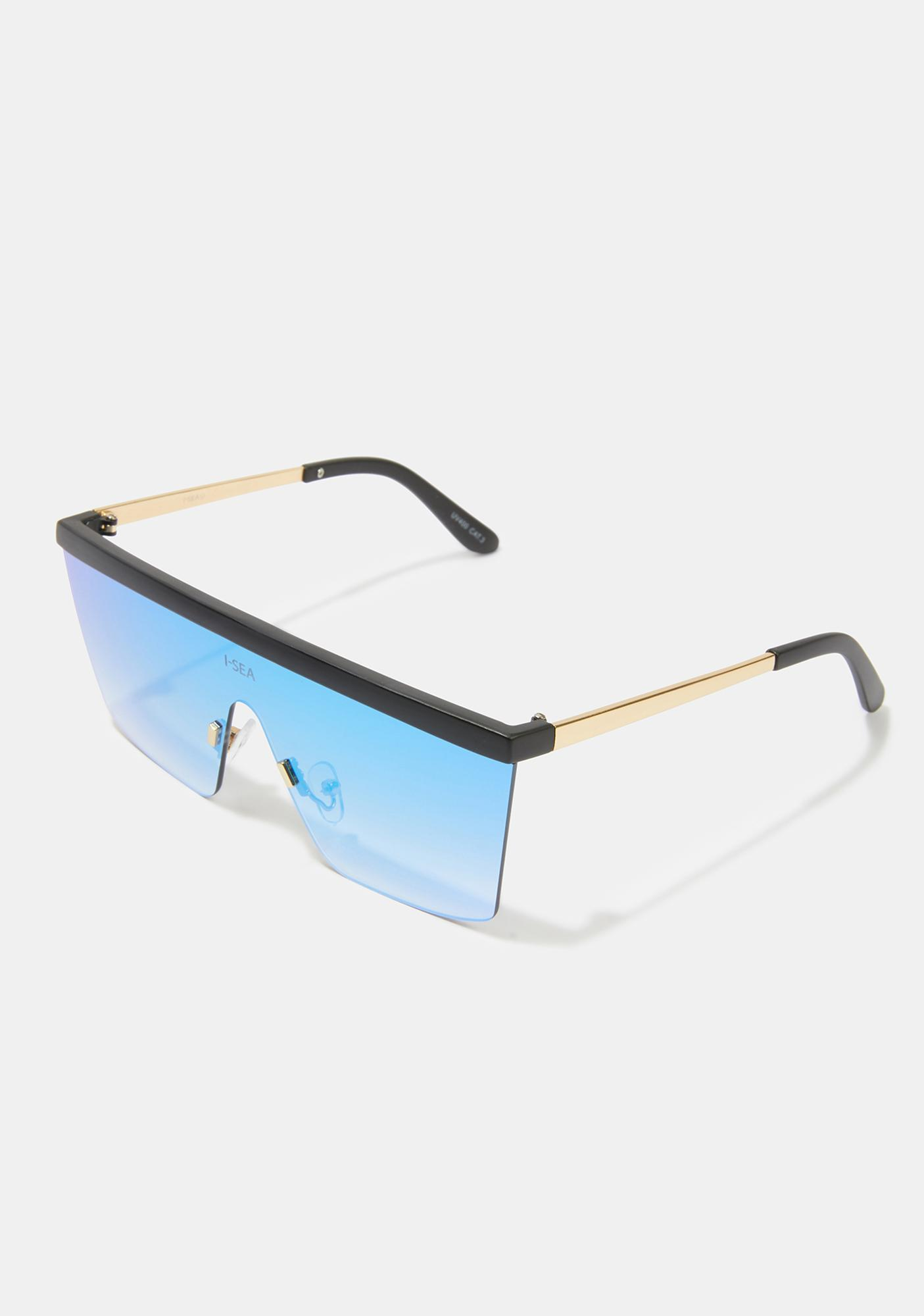 I-SEA Phoenix Gold Blue Shield Sunglasses
