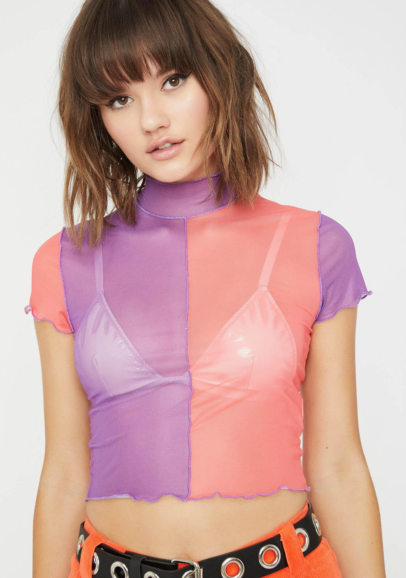 ddb1754c73 Current Mood Fairy Whatever Forever Sheer Top