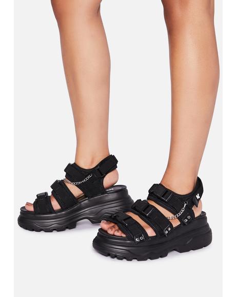 Sulfur Platform Sandals