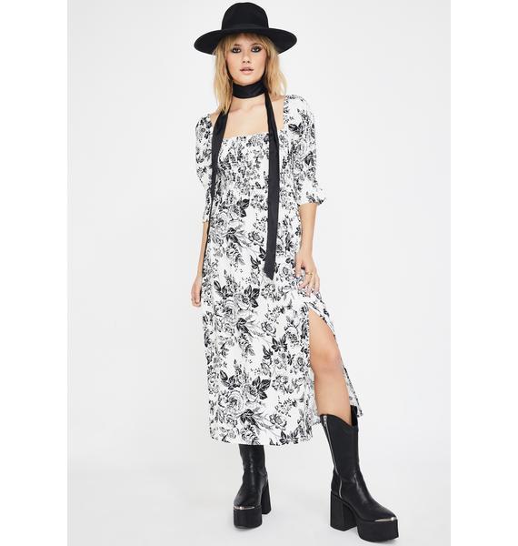 Glamorous Sketch Floral Midi Dress