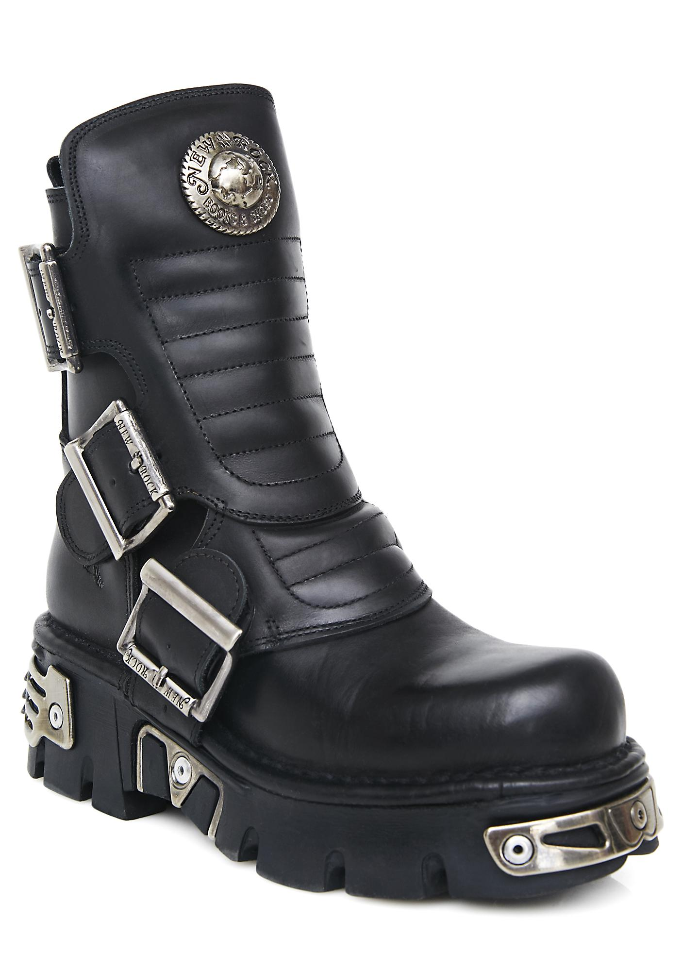 New Rock Rebellion Buckle Boots