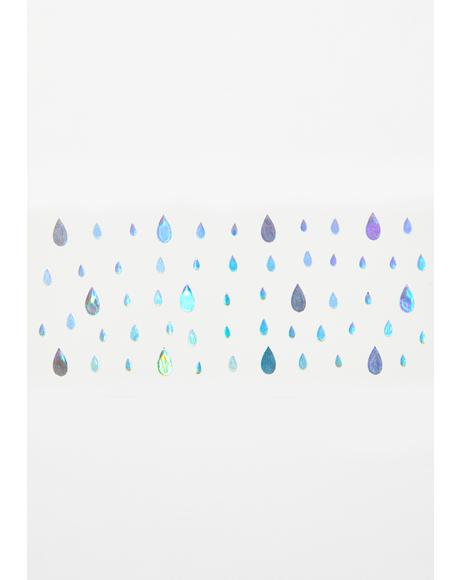 Holographic Raindrop Face Sparkles